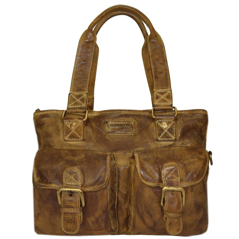GREENLAND Soft Bags Handtasche Leder 37 cm