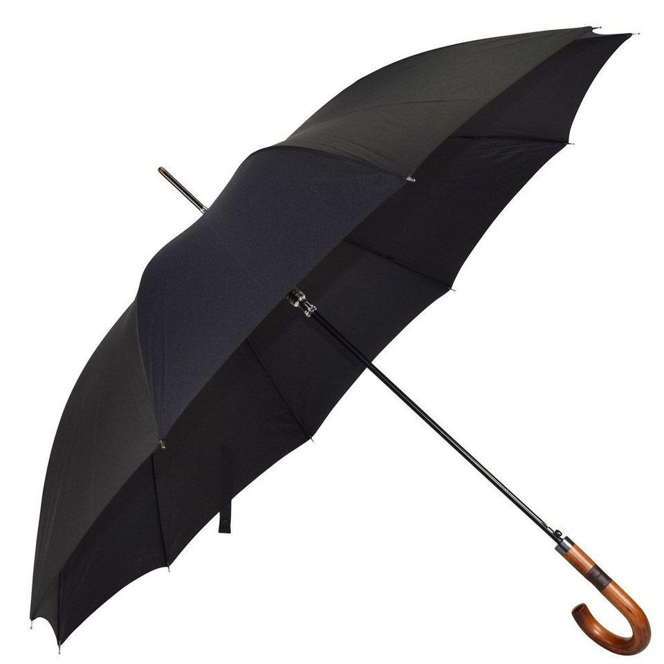 HAPPY RAIN Gents Long AC Stockschirm 92 cm in black