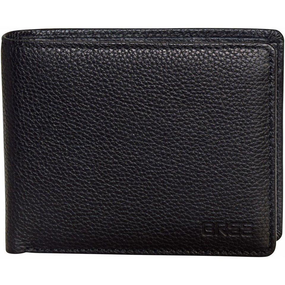 BREE Bree Pocket 112 Geldbörse Leder 11,5 cm in black grained