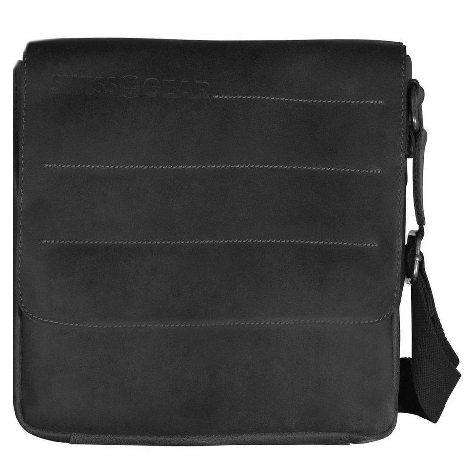 Wenger Swiss Gear Street Hunter Umhängetasche Leder 20 cm in schwarz