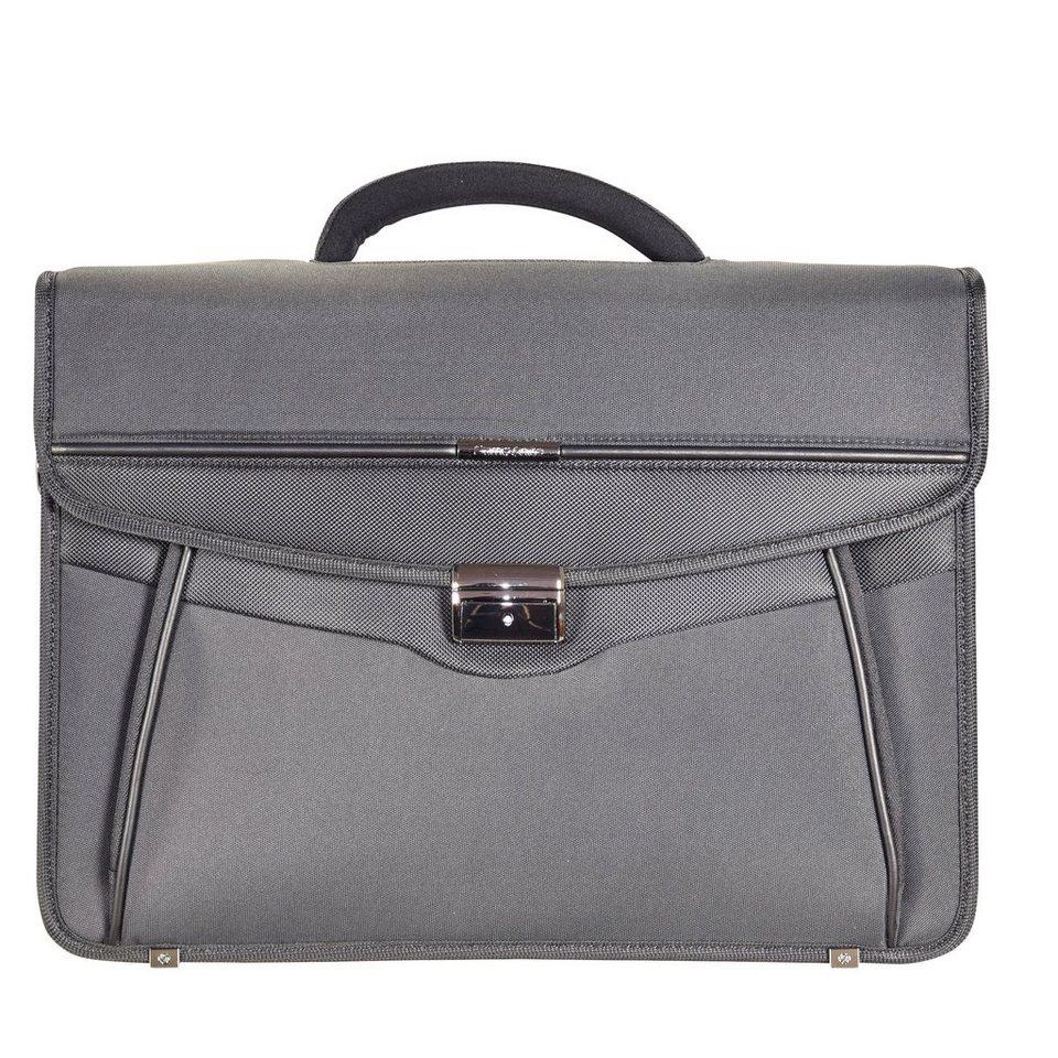 Samsonite Desklite Aktentasche Briefcase 42 cm Laptopfach in grey