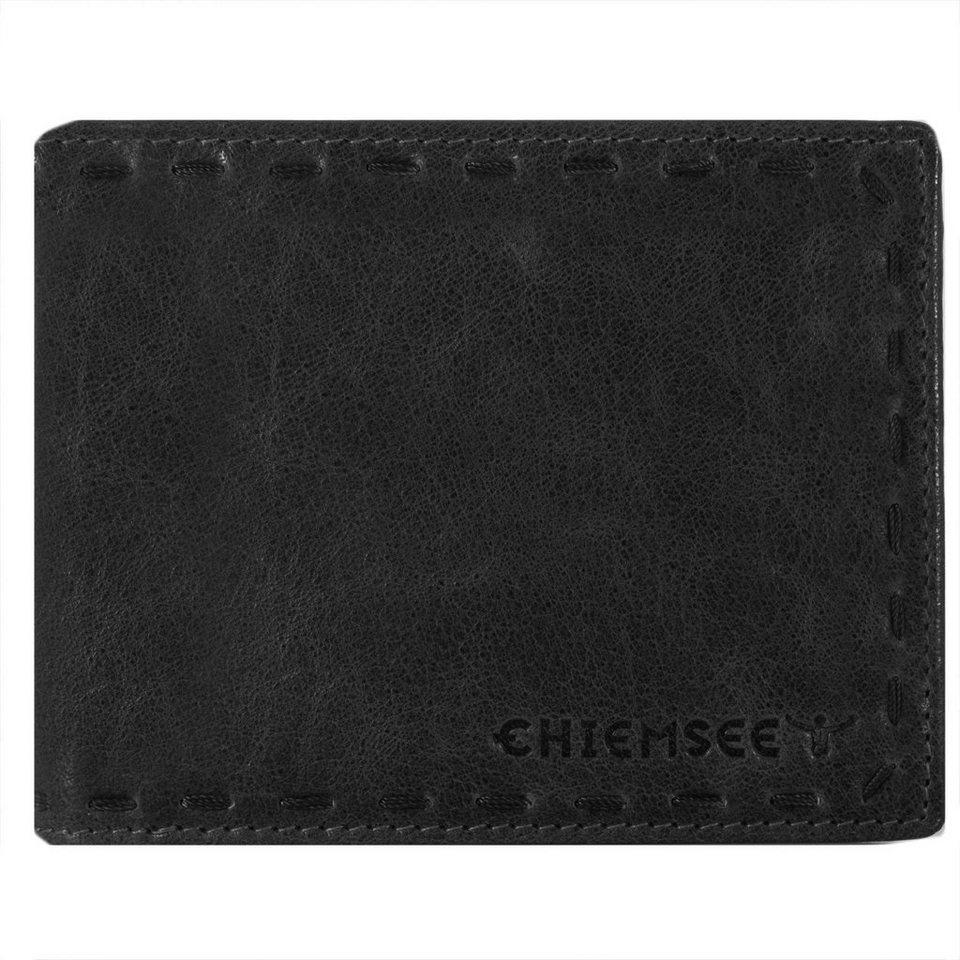 Chiemsee J88 Geldbörse Leder 12,5 cm in schwarz