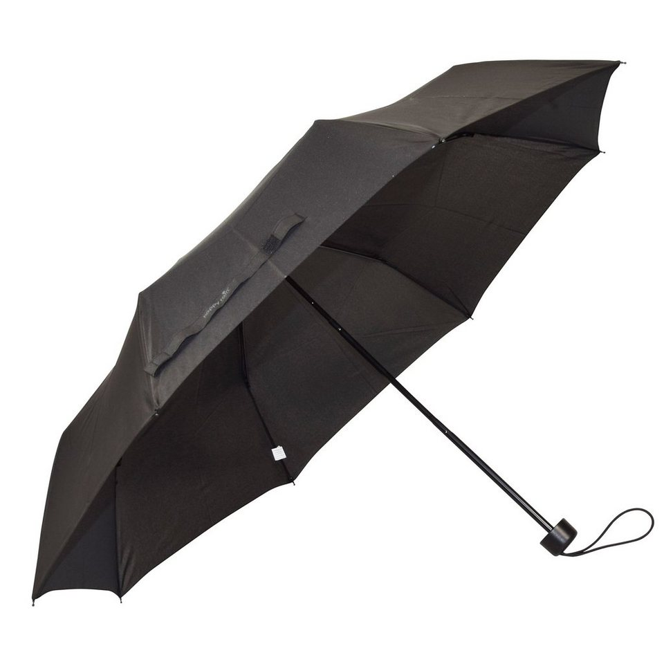HAPPY RAIN Super Mini Taschenschirm 23 cm in black