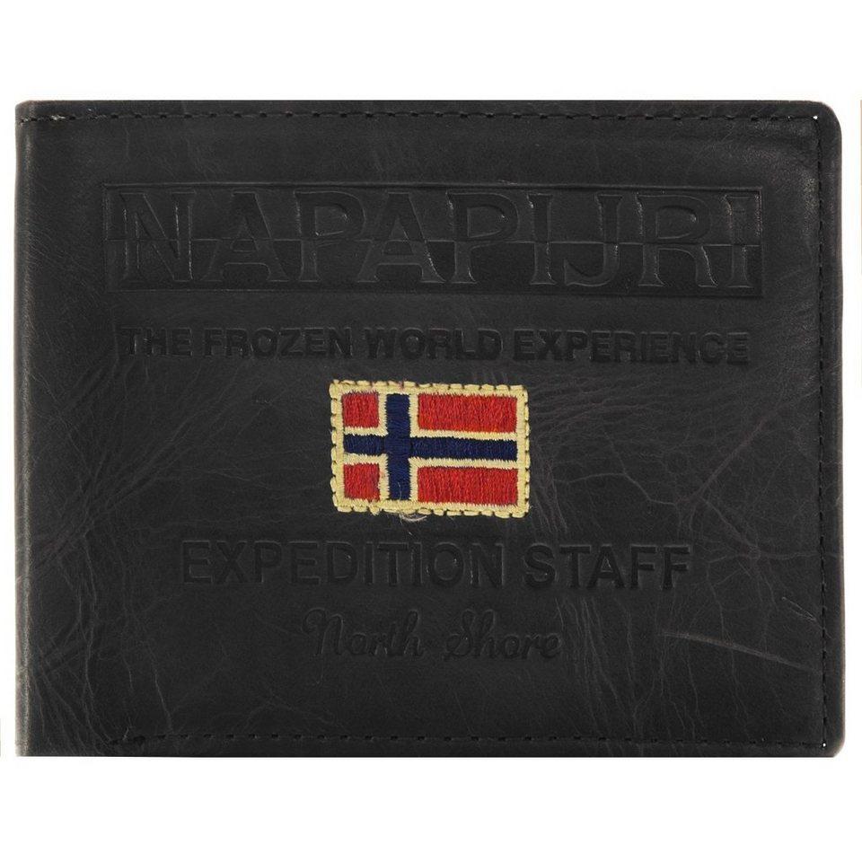 Napapijri Cork Billfold 5 Geldbörse Leder 12,5 cm in black