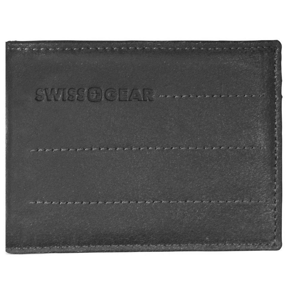 Wenger Swiss Gear Street Hunter Geldbörse Leder 12 cm in schwarz