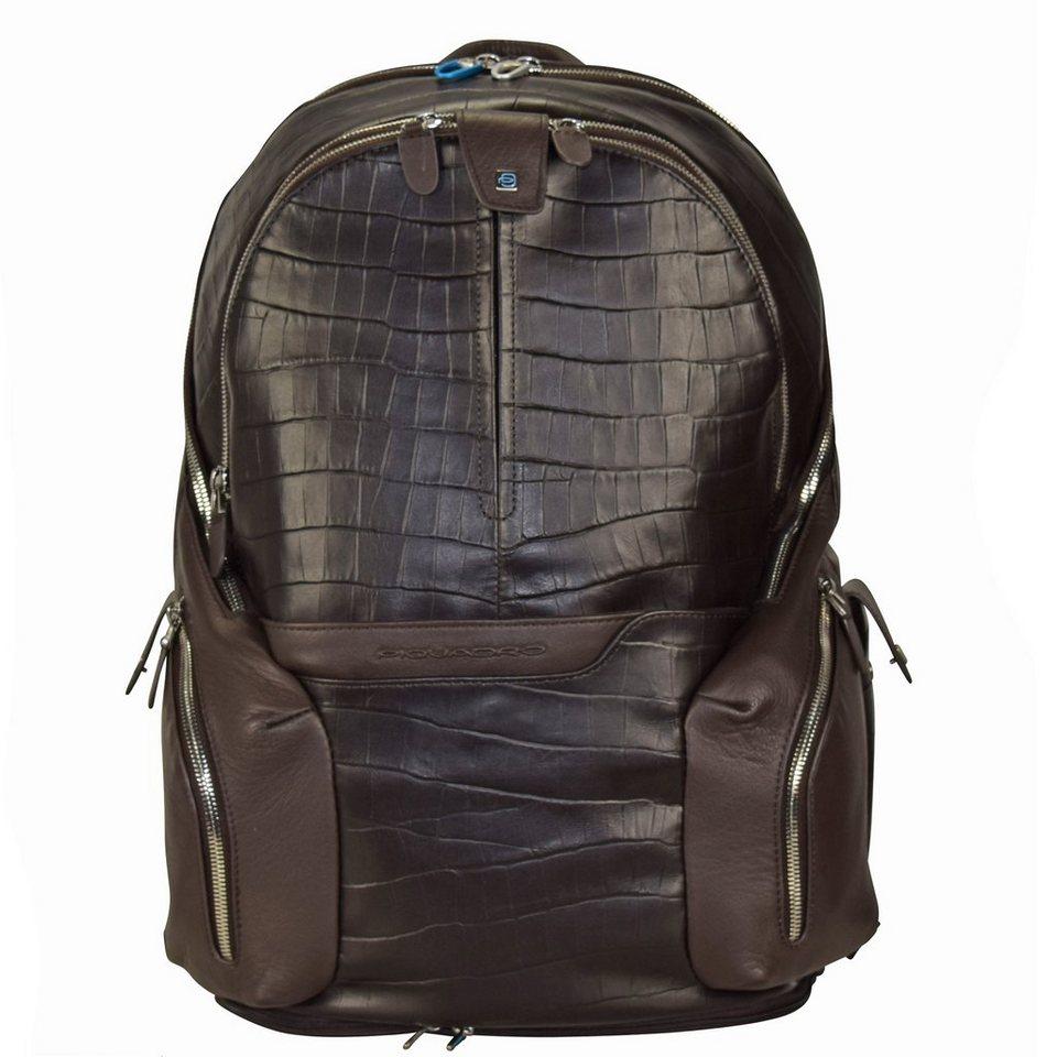 Piquadro Piquadro Coleos S05 Rucksack Leder 42,5 cm Laptopfach in dark brown
