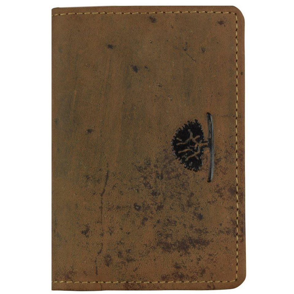 Greenburry Vintage Visitenkartenetui Leder 7 cm in brown