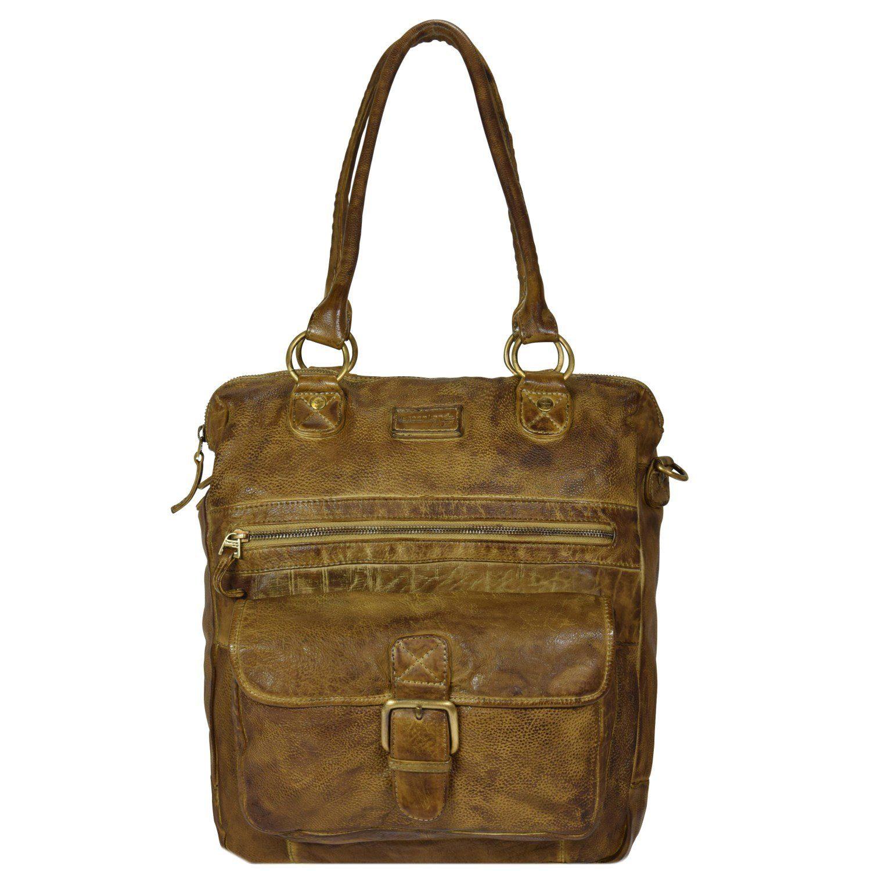 GREENLAND Soft Bags Handtasche Leder 33 cm