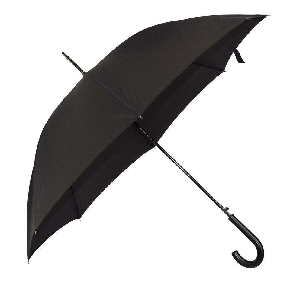 Happy Rain Happy Rain Long AC Stockschirm 85 cm in black