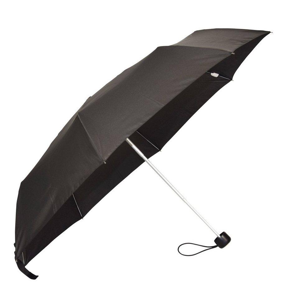 HAPPY RAIN Mini Alu Light Taschenschirm 23 cm in black