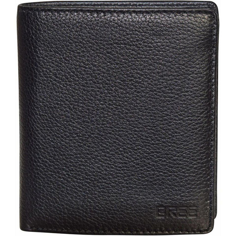 BREE Pocket 115 Geldbörse Leder 10 cm in black grained