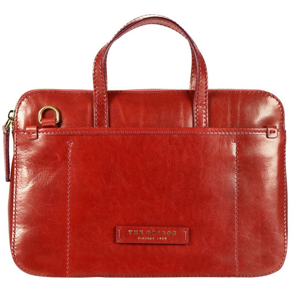 The Bridge Plume Luxe Donna Handtasche Leder 31 cm in rosso ribes