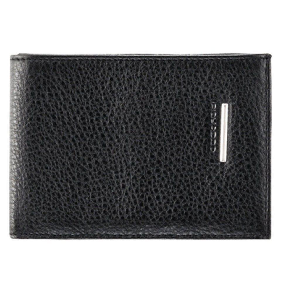 Piquadro Modus Geldbörse Leder 11,5 cm in schwarz