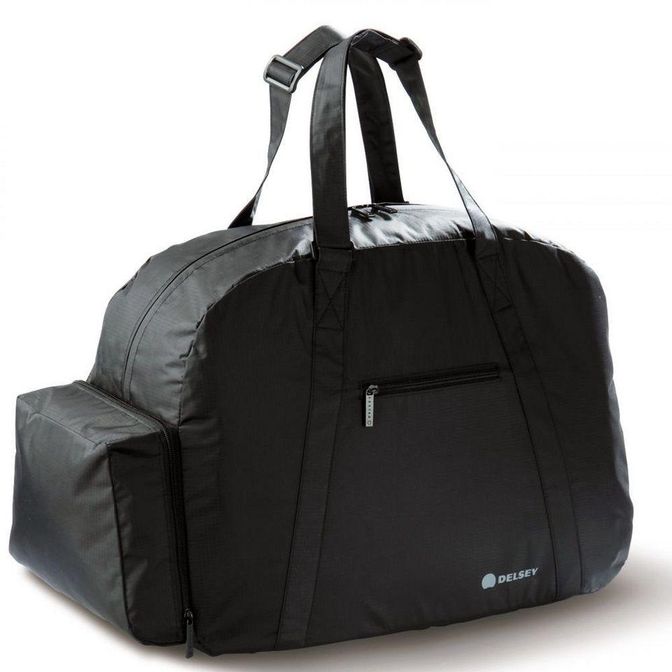 Delsey Accessoires faltbare Reisetasche in schwarz