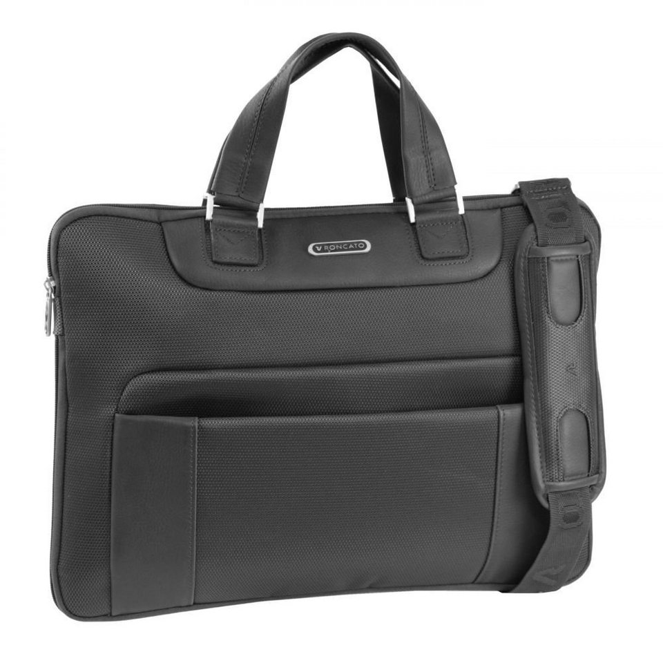RONCATO Memphis Aktentasche 40 cm Laptopfach in schwarz