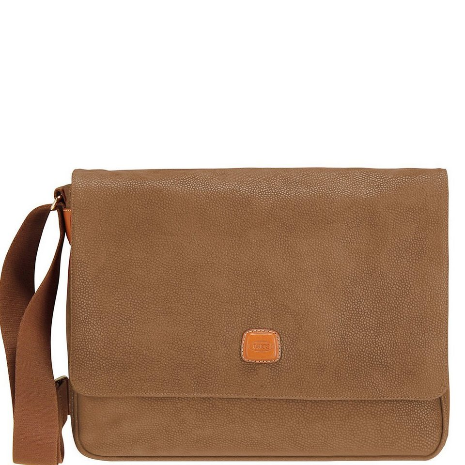 Bric's Life Messenger 35 cm in camel