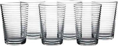 Pasabahce Glas »52752 Doro Wasserglas 210 ml 6er-Set Trinkgläser Gläserset mit Grooved Effekt«