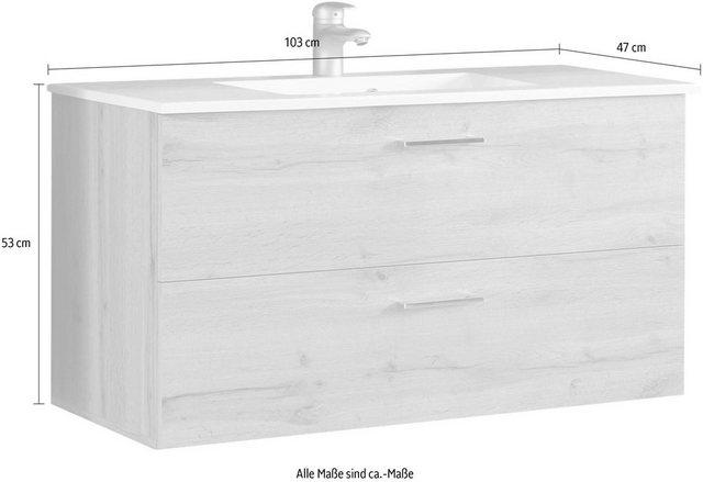 Waschtische - Waschtisch »Best« (Set, 2 St), mit 2 Schubladen, Eichenoptik  - Onlineshop OTTO