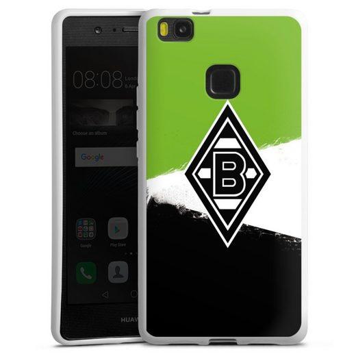 DeinDesign Handyhülle »Borussia Grunge Grün-Weiss-Schwarz« Huawei P9 Lite (2016), Hülle Gladbach Borussia Mönchengladbach