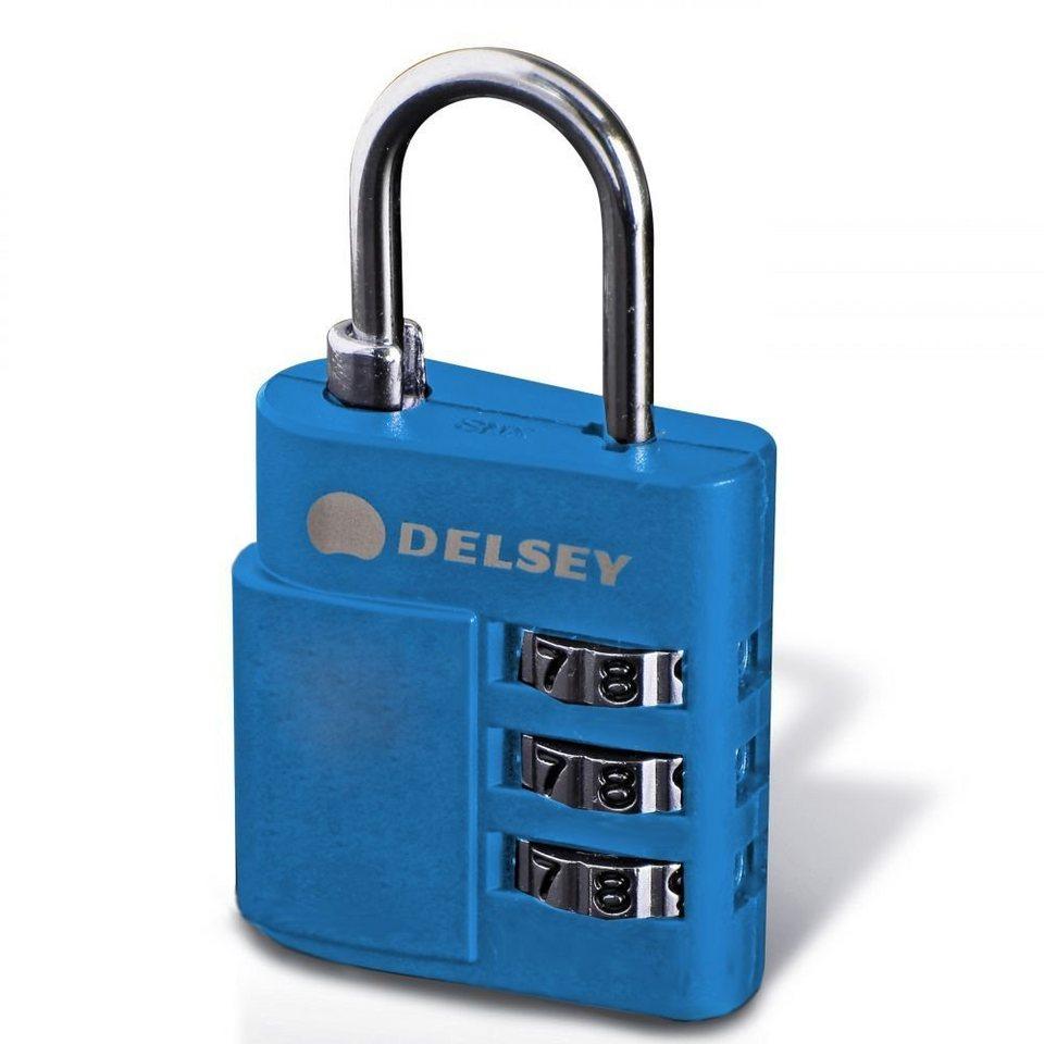 Delsey Accessoires Zahlencode-Schloss in blau