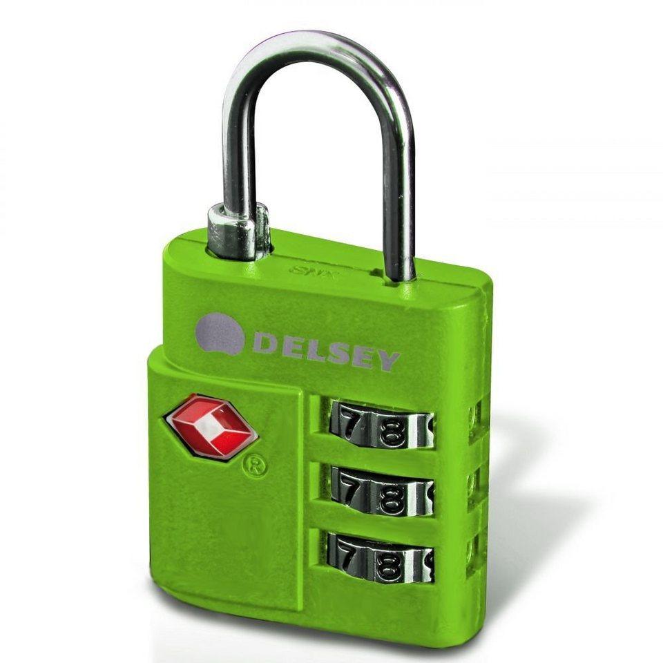 Delsey Delsey Accessoires Zahlencode-Schloss TSA in grün