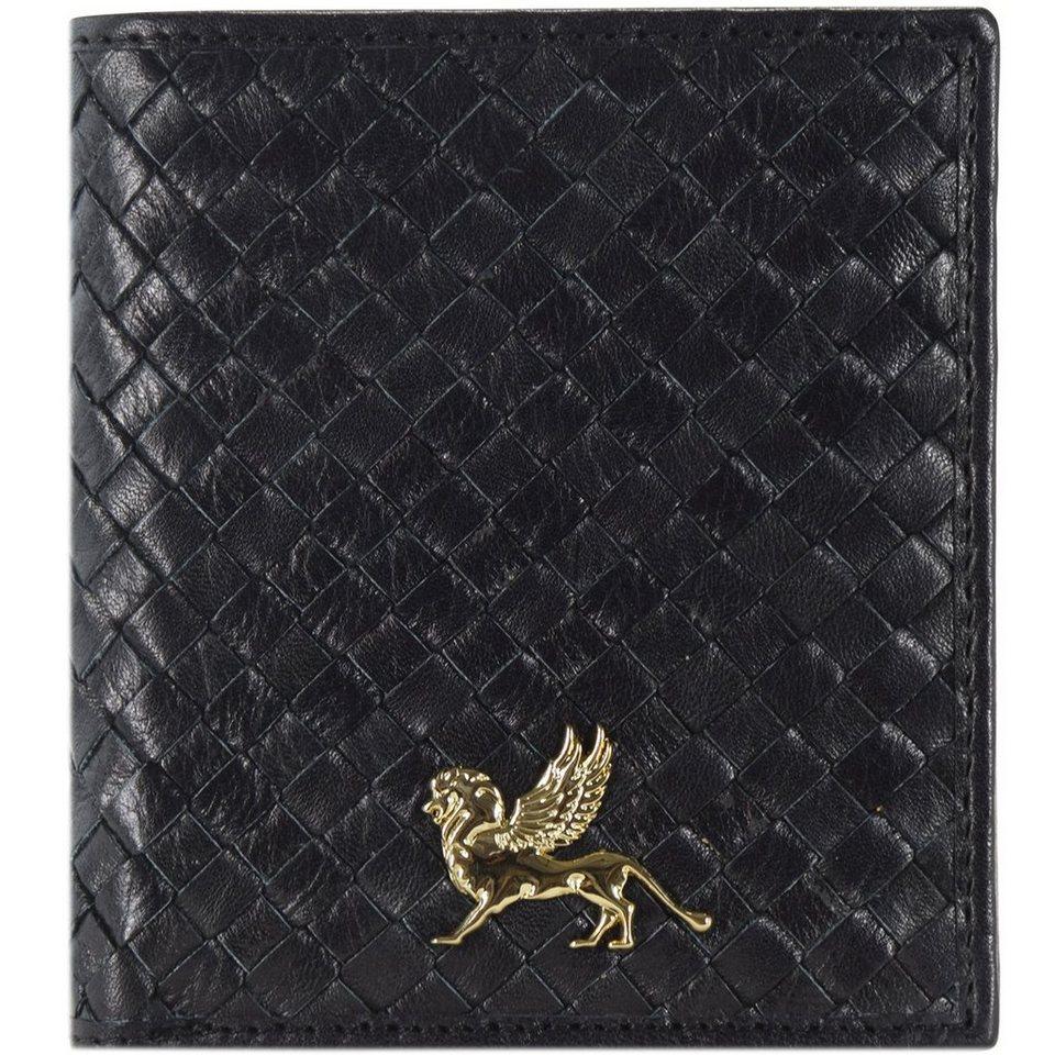 MANO Forte Geldbörse Leder 9,5 cm in schwarz