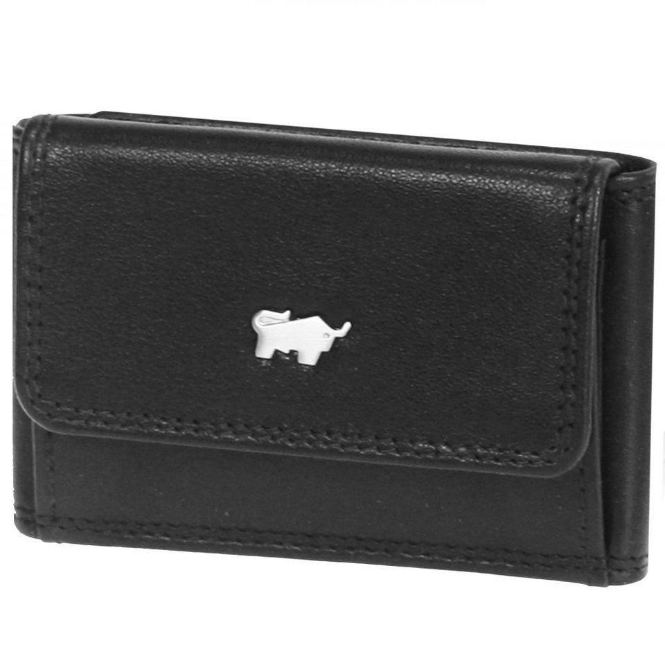 Braun Büffel Basic Geldbörse I Leder 9,5 cm in schwarz