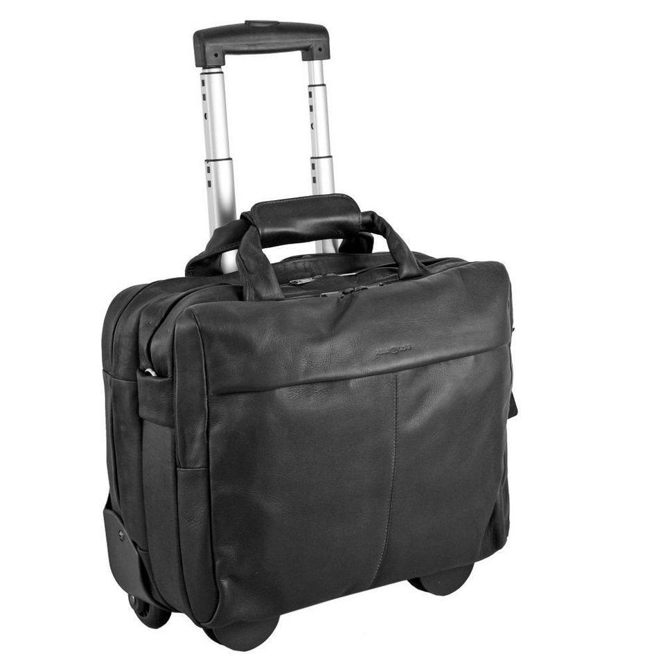 Harold's Country Business Trolley Leder 40 cm Laptopfach in schwarz