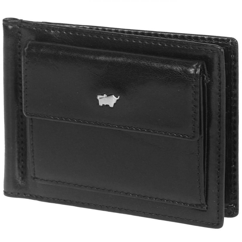 Braun Büffel Basic Dollarclipbörse III Leder 12 cm in schwarz
