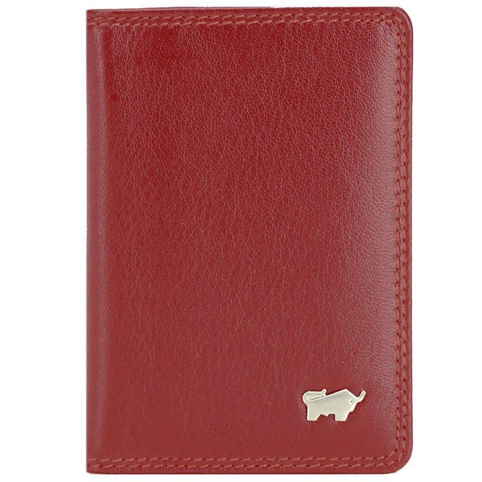 Braun Büffel Braun Büffel Golf Kreditkartenetui Leder 7 cm in rot