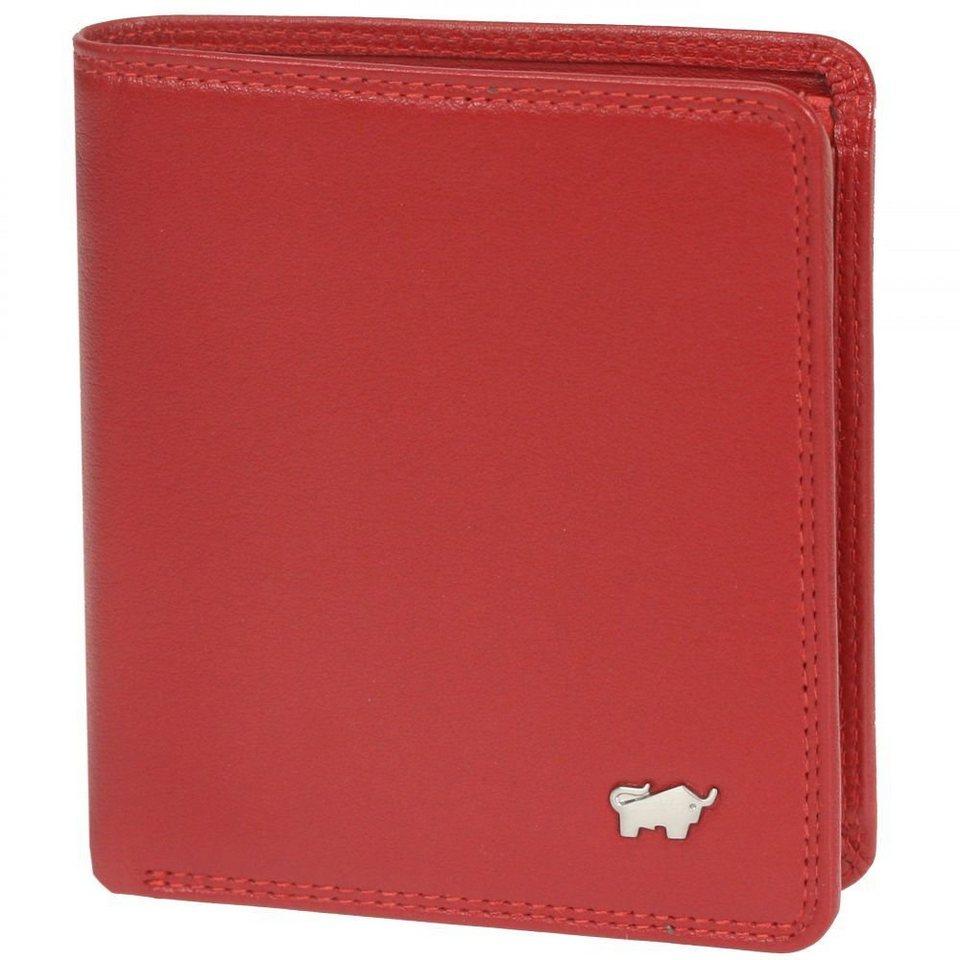 Braun Büffel Golf Geldbörse Leder 10 cm in rot