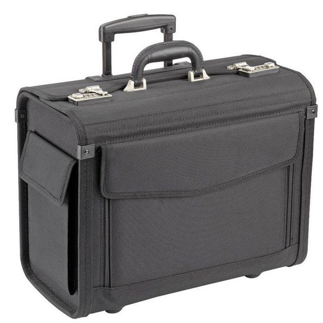Dermata Pilotenkoffer Trolley 45,5 cm Laptopfach | Taschen > Koffer & Trolleys > Trolleys | Schwarz | Dermata