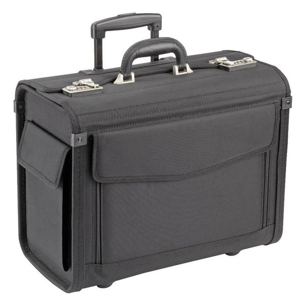 Dermata Dermata Pilotenkoffer Trolley 45,5 cm Laptopfach in schwarz