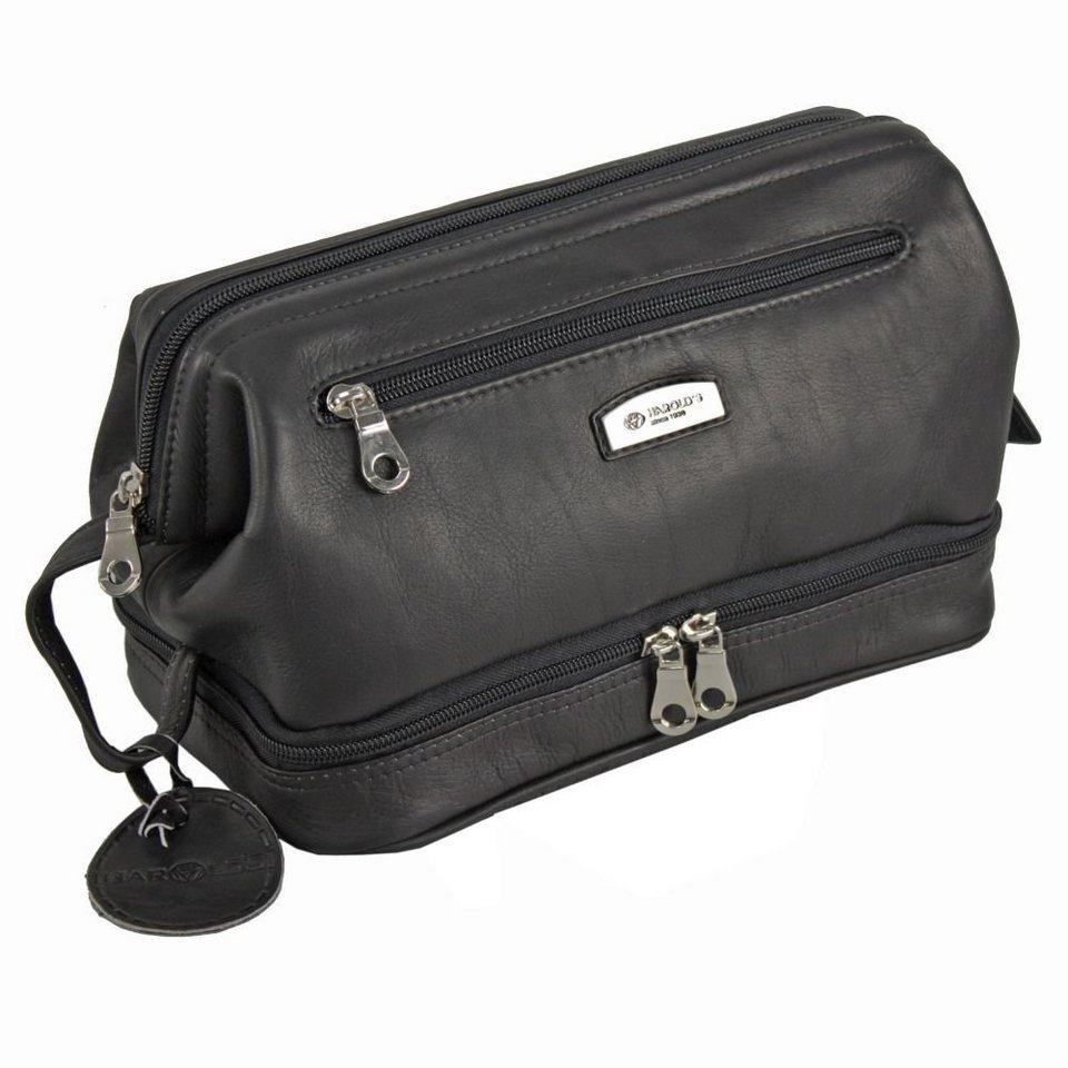 Harold's Country Kulturtasche Leder 27 cm in schwarz