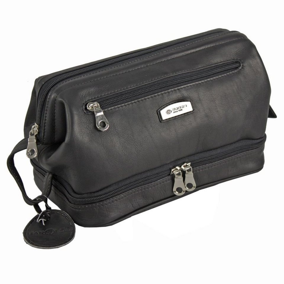 Harold's Harold's Country Kulturtasche Leder 27 cm in schwarz