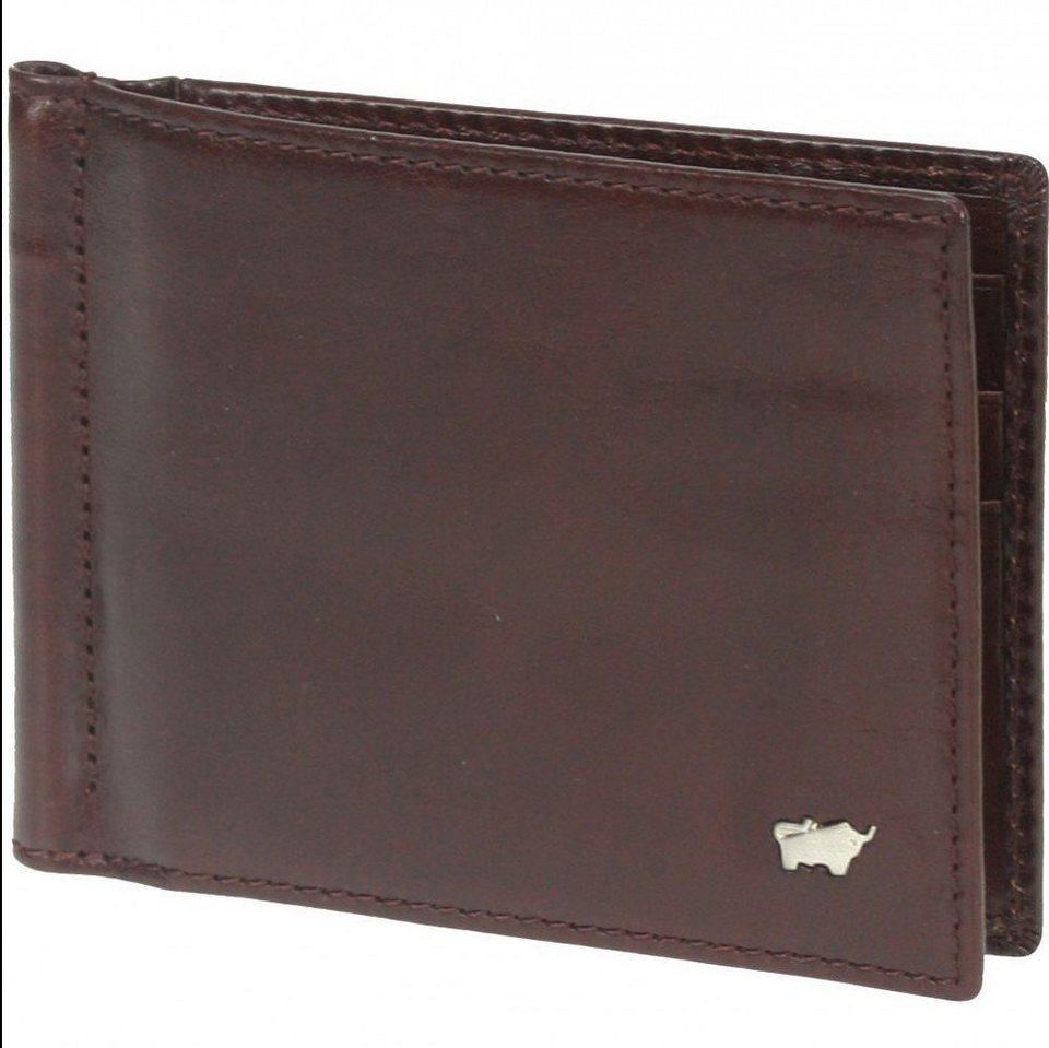 Braun Büffel Basic Dollarclipbörse II Leder 12 cm in palisandro
