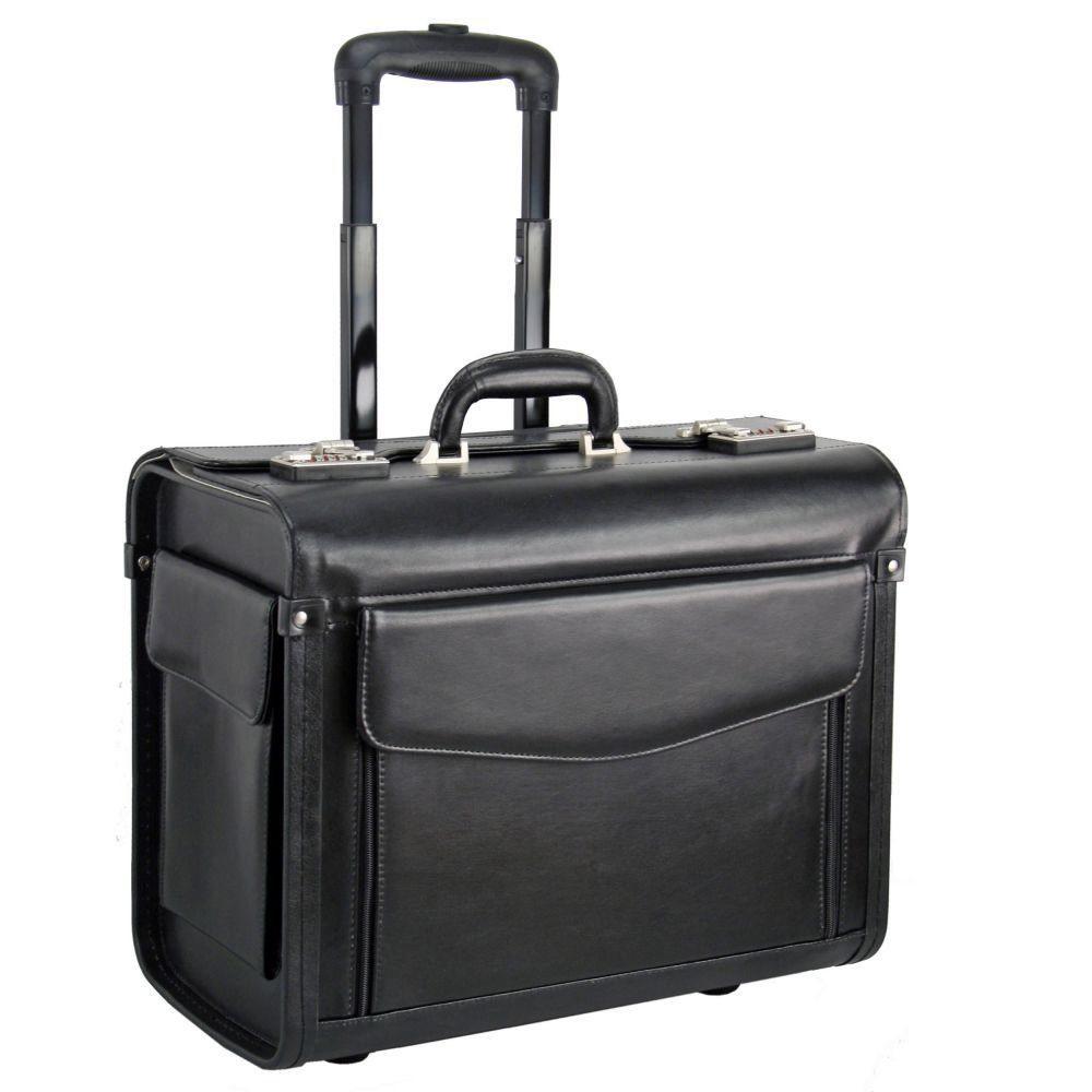 Dermata Pilotenkoffer Trolley Leder 45,5 cm Laptopfach