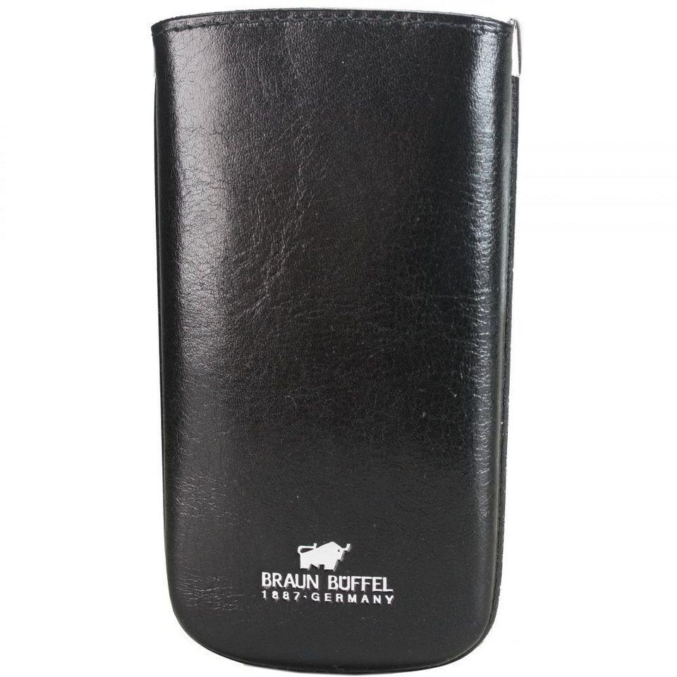 Braun Büffel Basic Schlüsseletui Leder 7 cm in schwarz
