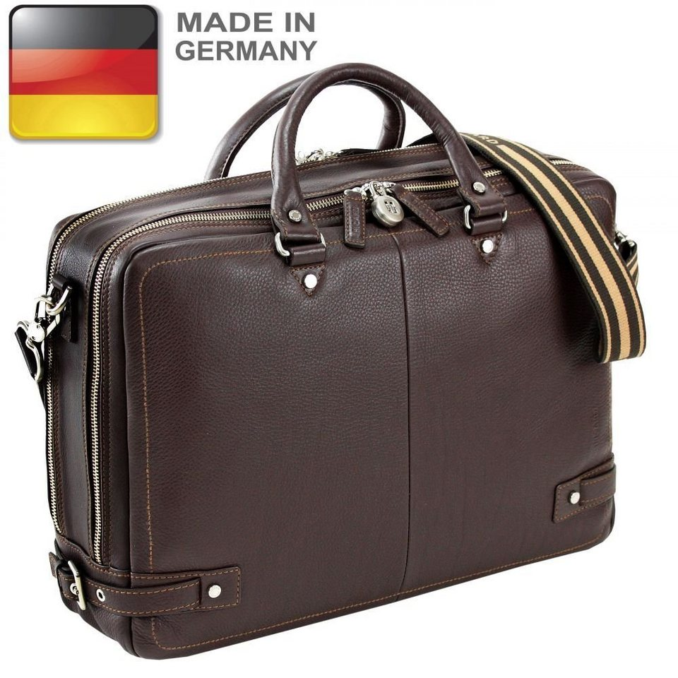 Picard Origin Aktentasche Leder 41 cm Laptopfach in cafe
