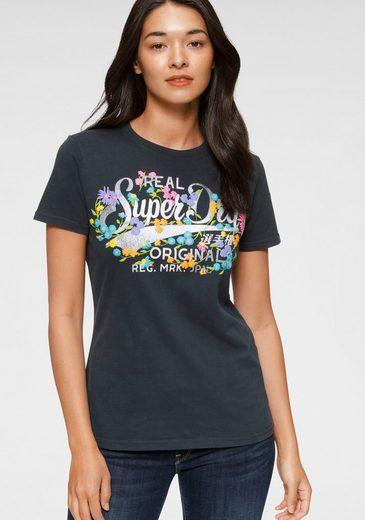 Superdry Print-Shirt »REAL ORIGINALS FLORAL TEE« Mit floralem Vintage Logo Print