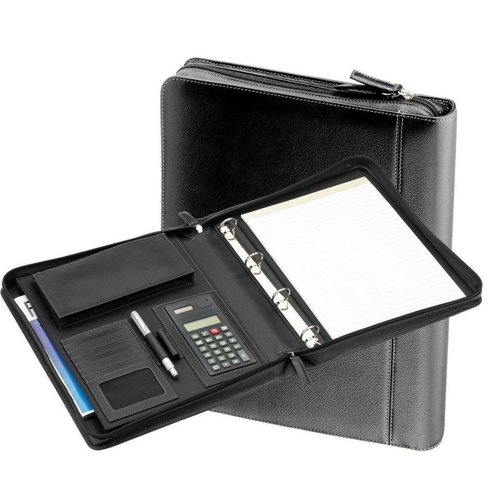 d & n Easy Business Schreibmappe III Leder 34 cm in schwarz