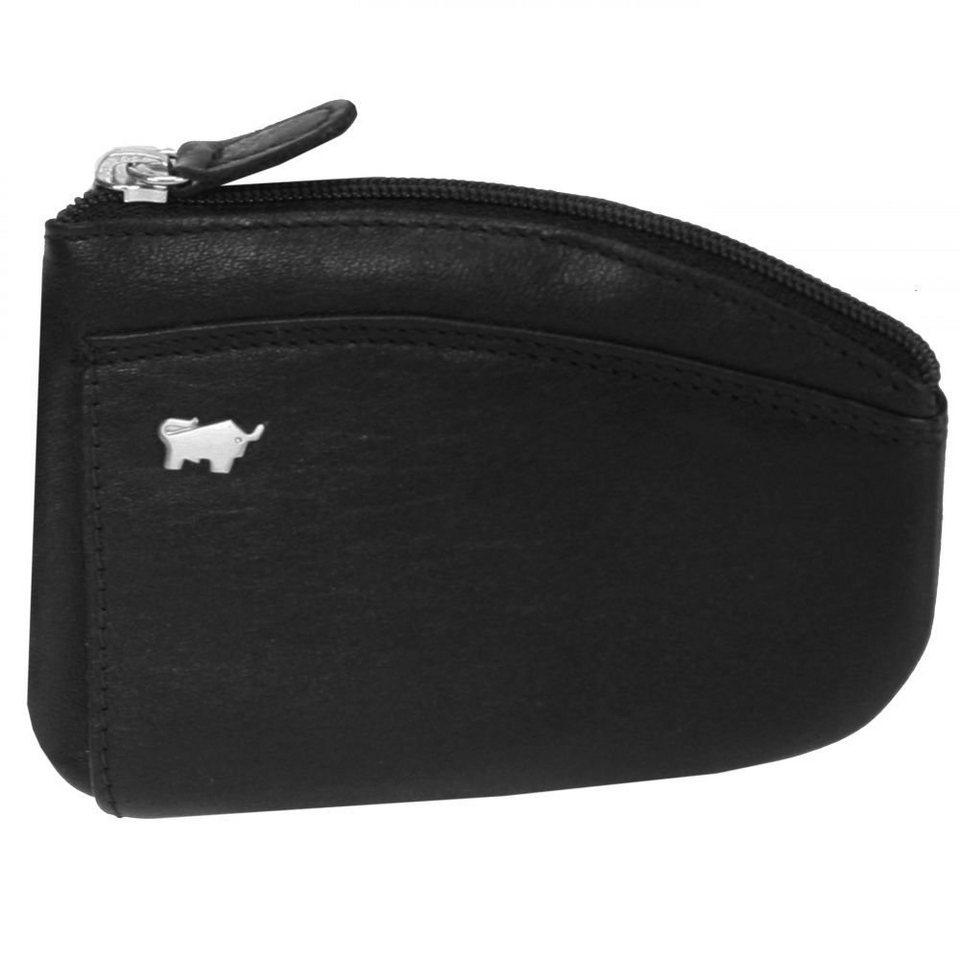 Braun Büffel Golf Schlüsseletui Leder 11,5 cm in schwarz