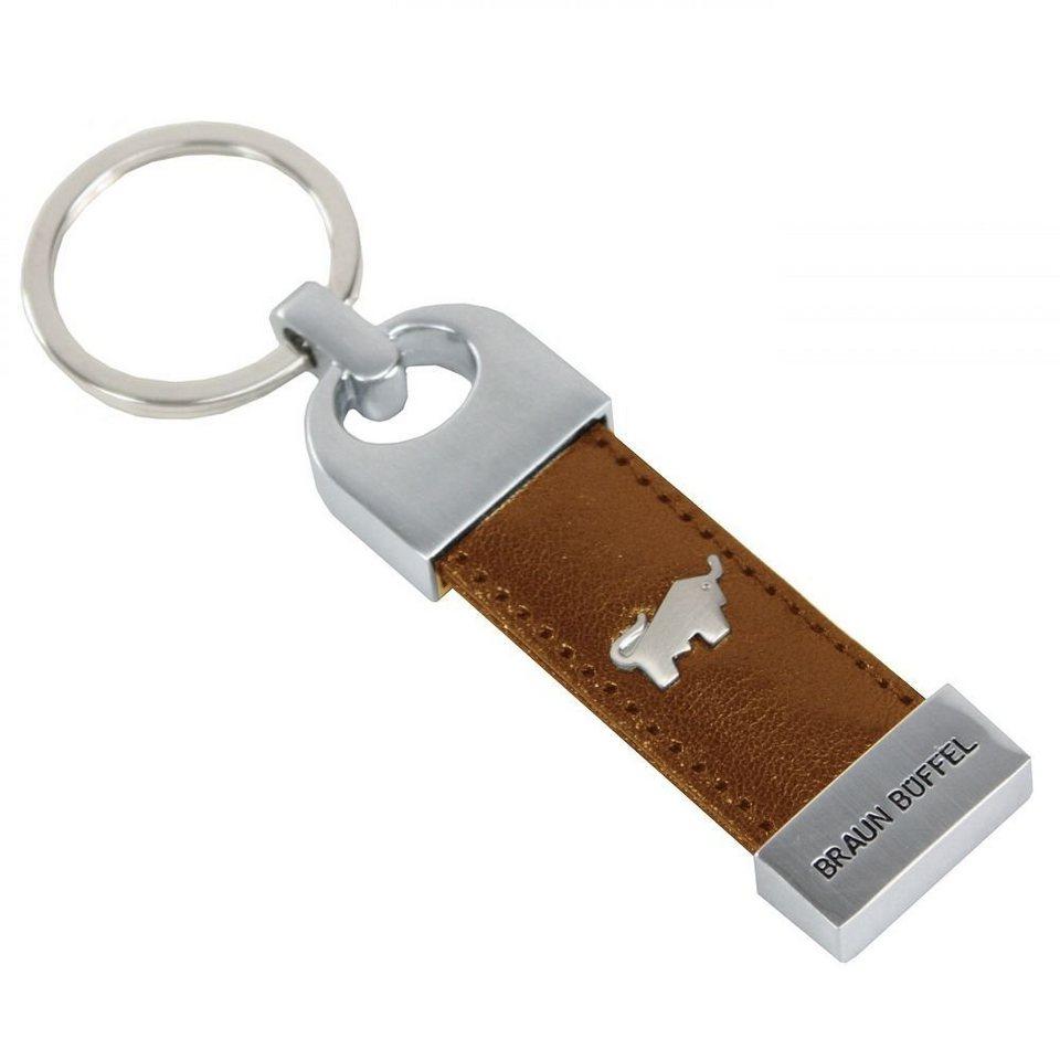 Braun Büffel Basic Schlüsselanhänger Leder 8 cm in cognac