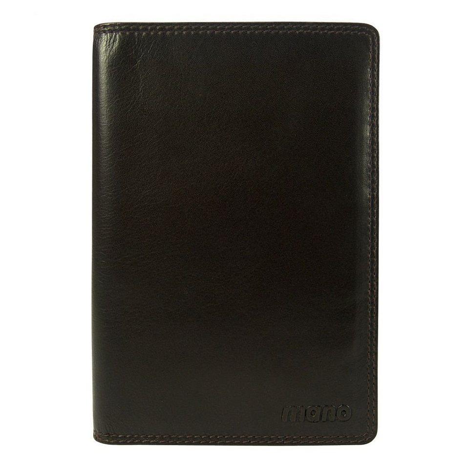 MANO mano Oxford Brieftasche Leder 11,50 cm in dunkelbraun
