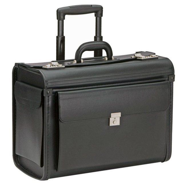 Dermata Pilotenkoffer Trolley 48 cm Laptopfach | Taschen > Koffer & Trolleys > Trolleys | Schwarz | Dermata