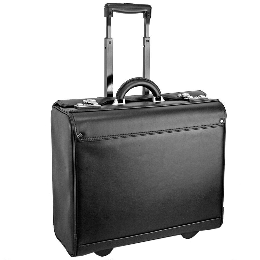 Dermata Pilotenkoffer Trolley I Leder 47 cm Laptopfach