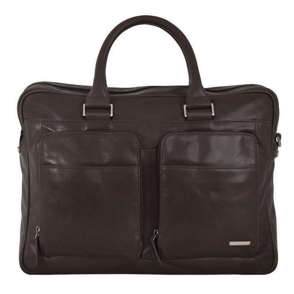 Braun Büffel Texas Businesstasche Leder 41 cm Laptopfach in braun