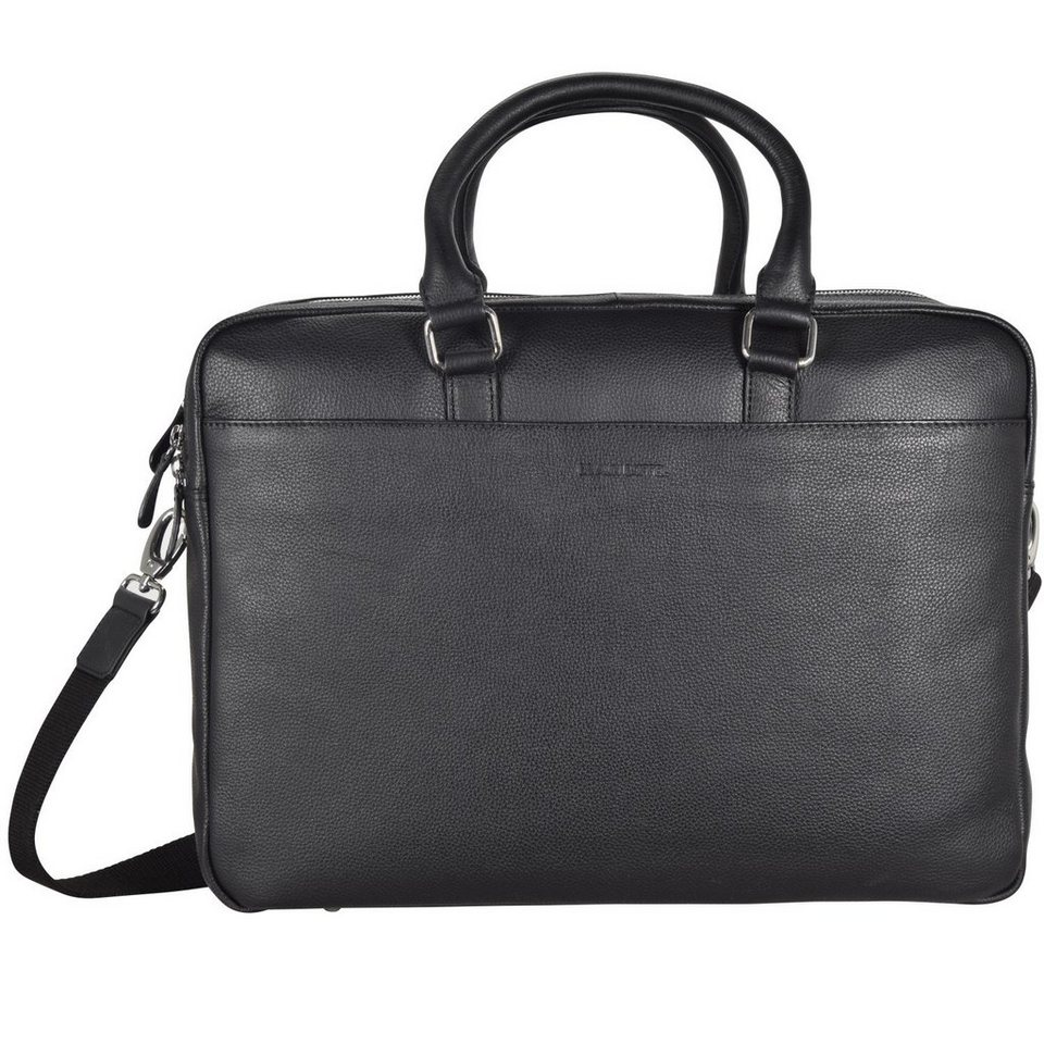 Braun Büffel Nice Businesstasche Leder 41 cm Laptopfach in schwarz