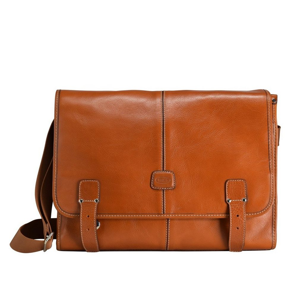 Bric's Life Pelle Messenger 38 cm in leather