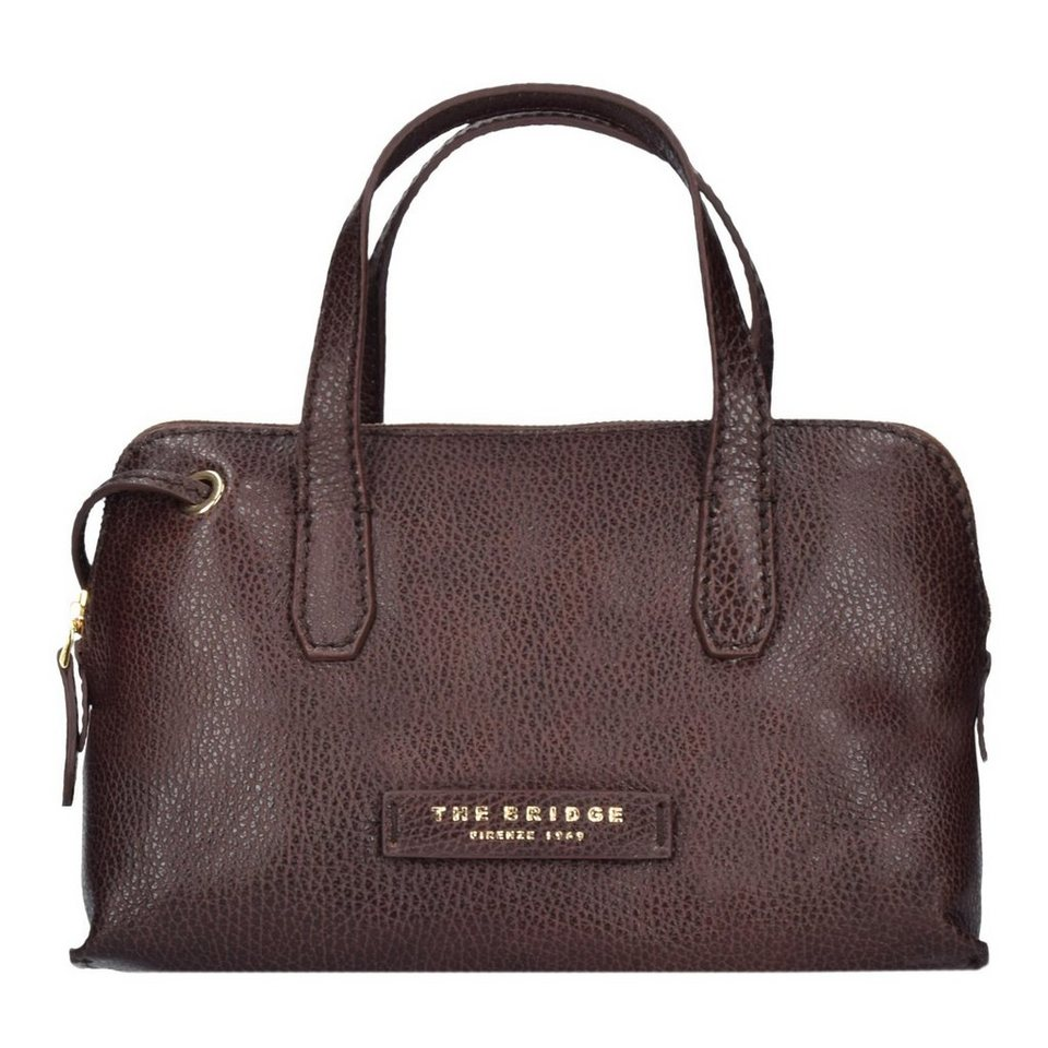 The Bridge The Bridge Plume Soft Donna Umhängetasche Tasche Leder 22,5 cm in marrone